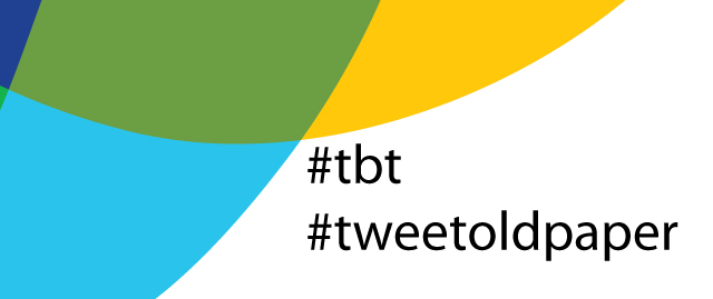 Throwback Thursday, with a Science Twist: #tbt #tweetoldpaper