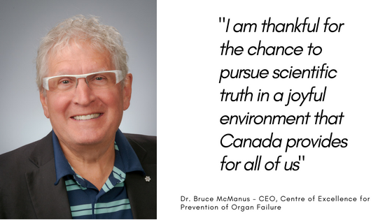Order of Canada Announces PROOF CEO, Dr. Bruce McManus as Newest Member