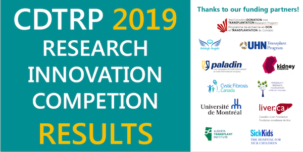 CDTRP Announces Recipients of 2019 Research Innovation Grant
